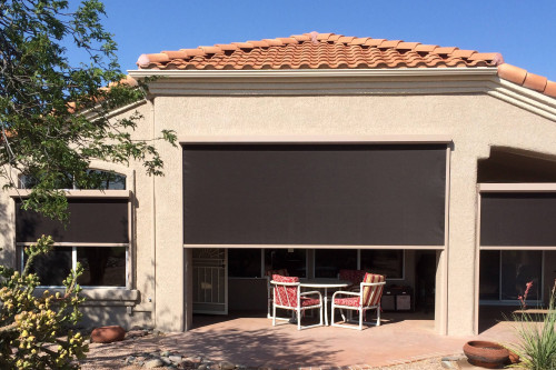 Elite Exterior Fabric Retention Track Sun Shades