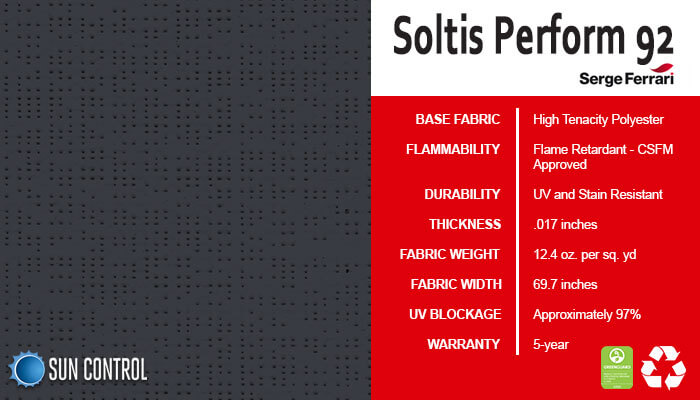 Soltis Perform 92 Anthracite