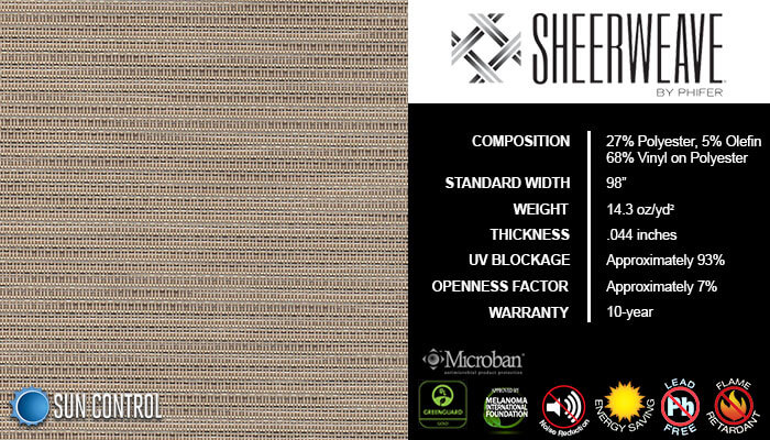 SheerWeave 5000 Bamboo Wheat
