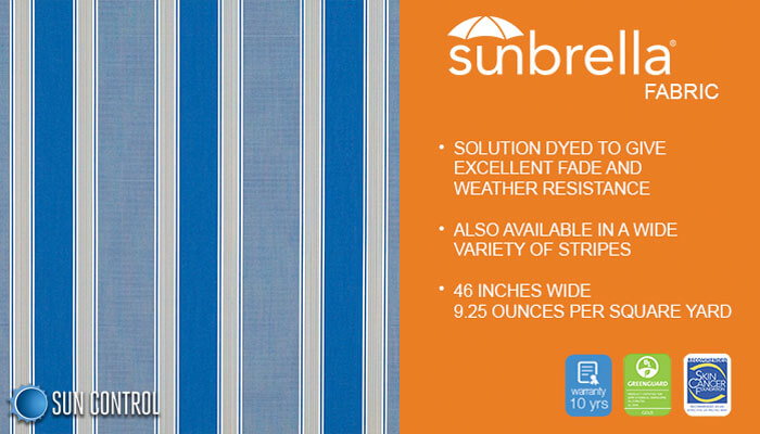 Sunbrella Stripe Baycrest Pacific