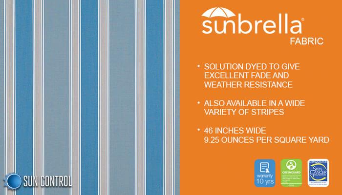 Sunbrella Stripe Baycrest Sky