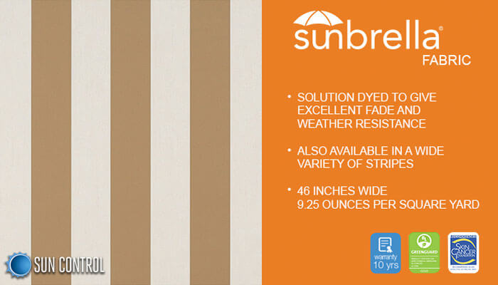 Sunbrella Mayfield Beaufort Beige White