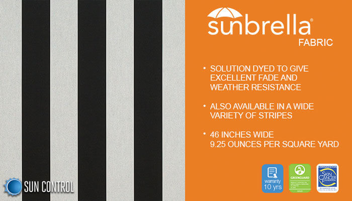 Sunbrella Stripe Beaufort Black White