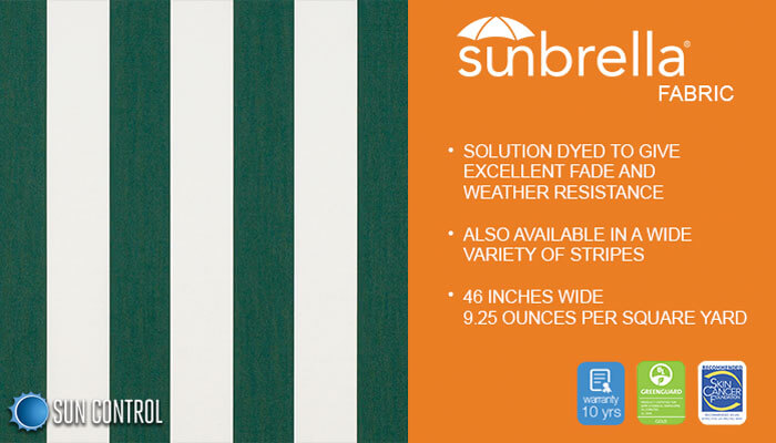 Sunbrella Stripe Beaufort Forest Green Natural