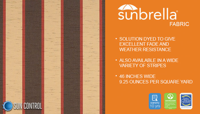 Sunbrella Stripe Bisque Brown