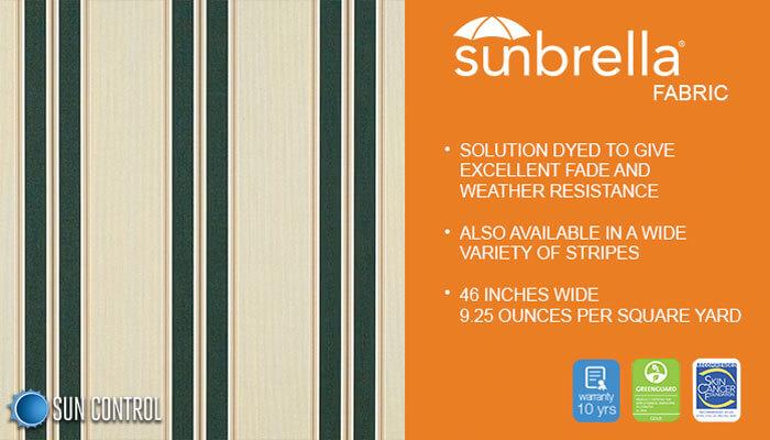 Sunbrella Stripe Black Forest Fancy