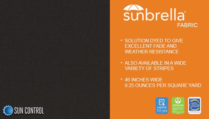 Sunbrella Solid Black