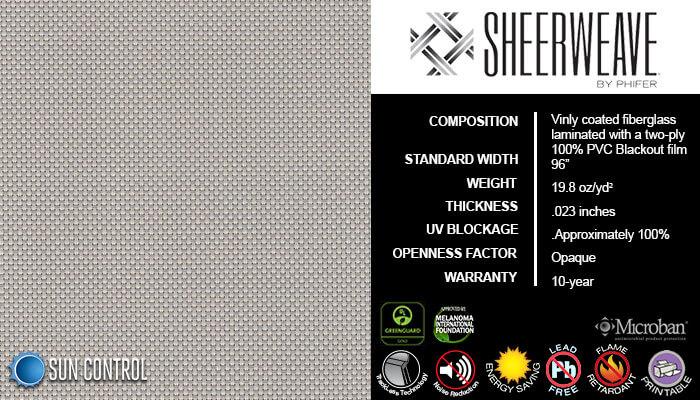 SheerWeave Blackout 7100 Bone Platinum