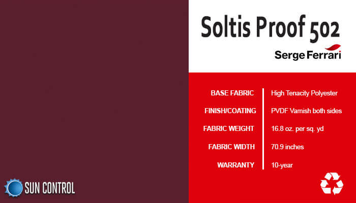 Soltis Proof 502 Burgundy