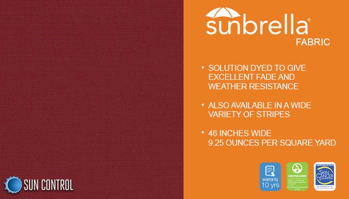 Sunbrella Solid Burgundy