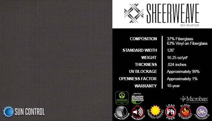 SheerWeave 2500 Charcoal Chestnut