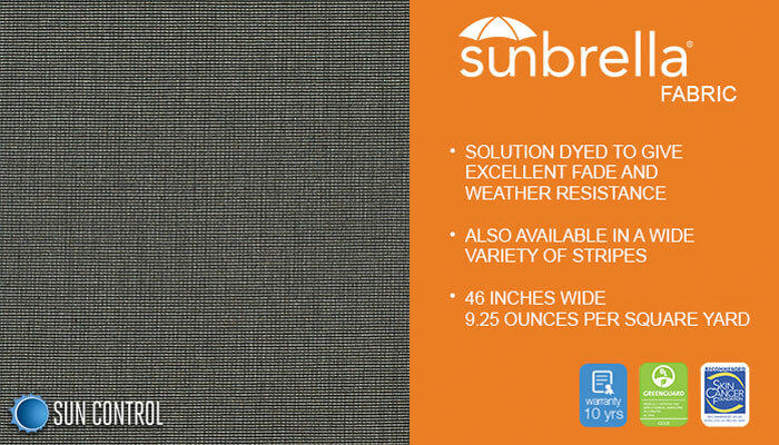 Sunbrella Charcoal Tweed