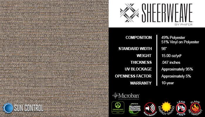 SheerWeave 5000 Chenille Driftwood