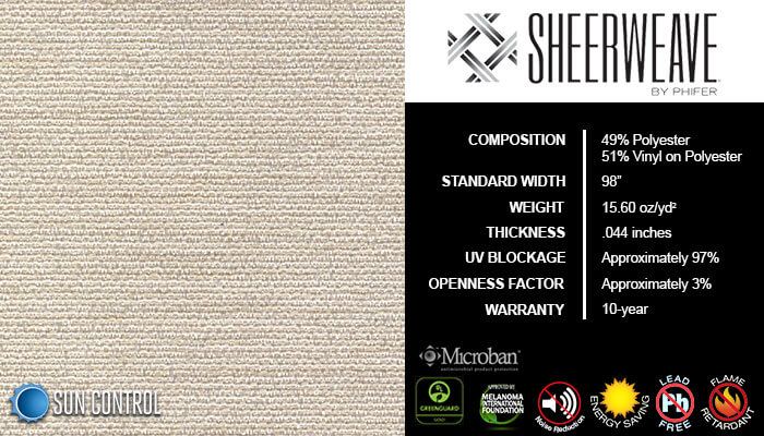 SheerWeave 5000 Chenille Pearl