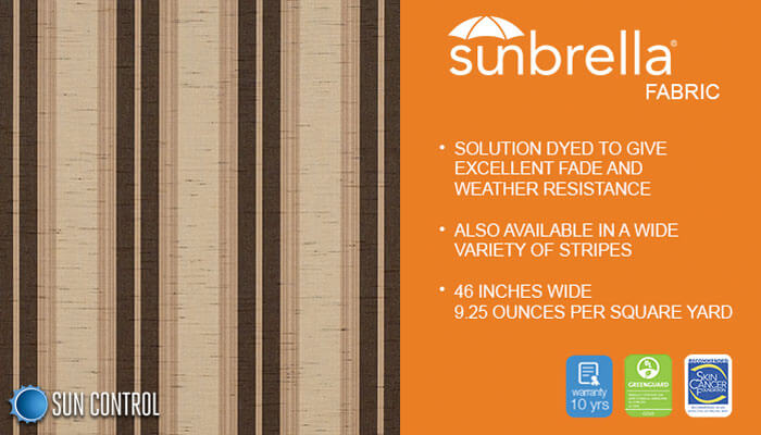 Sunbrella Stripe Chocolate Chip