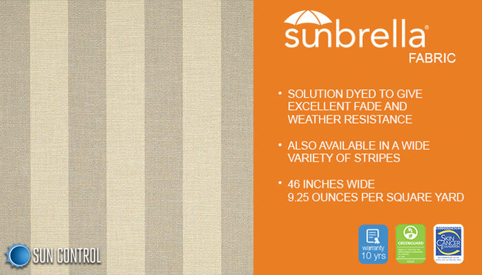 Sunbrella Stripe Courtland Pebble