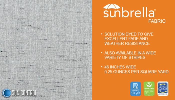 Sunbrella Texture Crest Ash