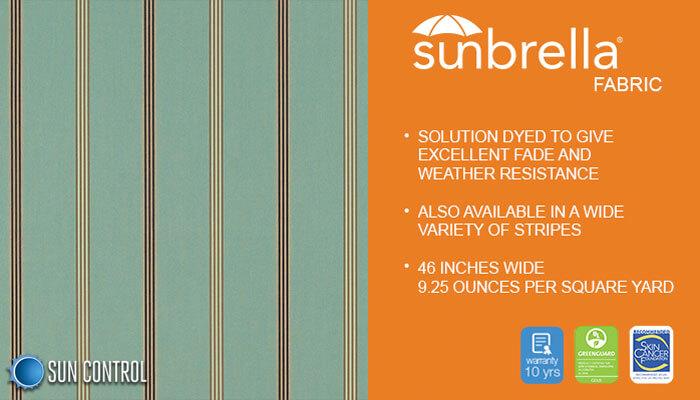 Sunbrella Stripe Crestview Seaglass