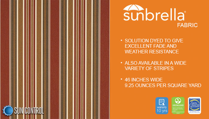 Sunbrella Stripe Eastland Redwood