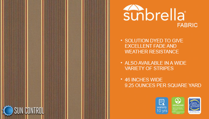 Sunbrella Stripe Eastridge Cocoa
