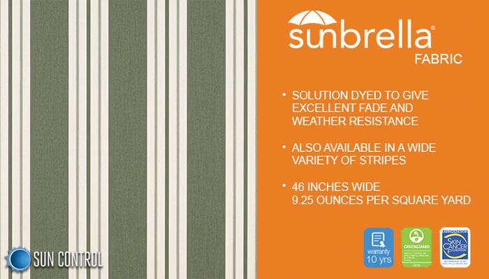 Sunbrella Stripe Fern Classic