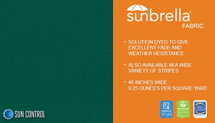 Sunbrella Solid Forest Green