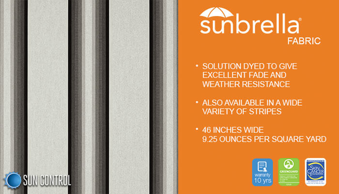 Sunbrella Stripe Grey Black White