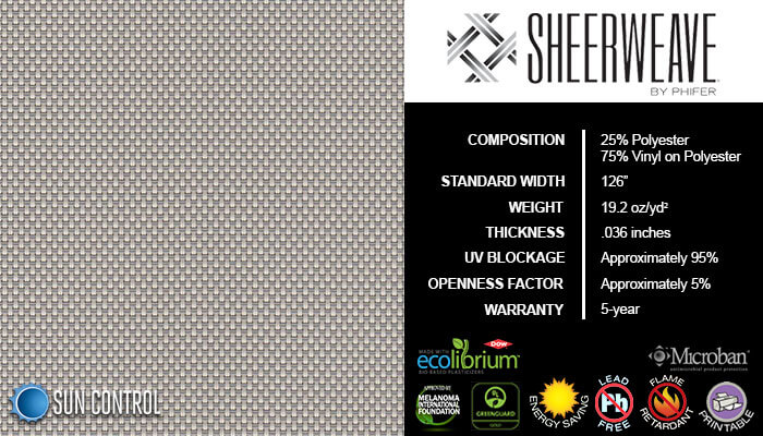 SheerWeave 4000 Eco Greystone