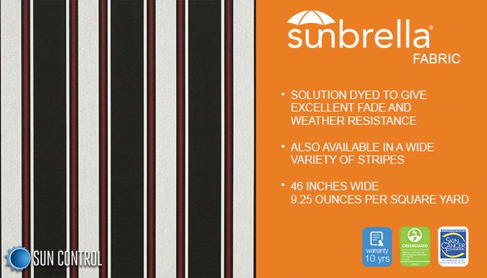 Sunbrella Stripe Hatteras Raven