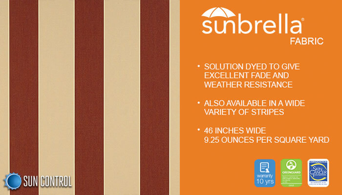Sunbrella Stripe Havelock Brick
