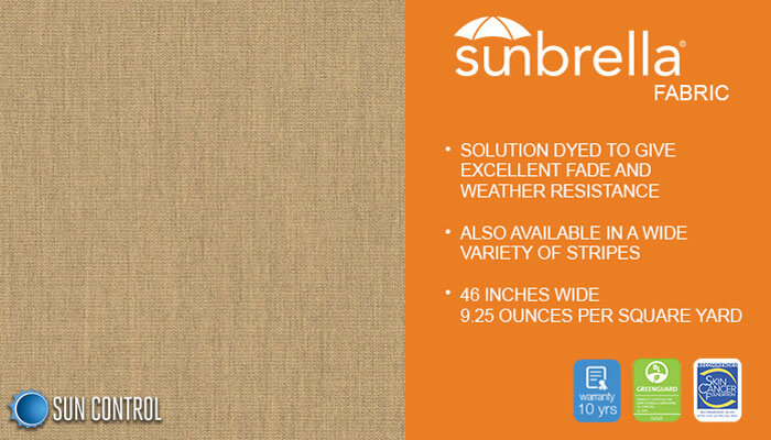 Sunbrella Solid Heather Beige