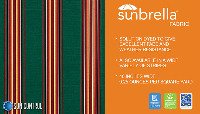 Sunbrella Stripe Hemlock Tweed Fancy