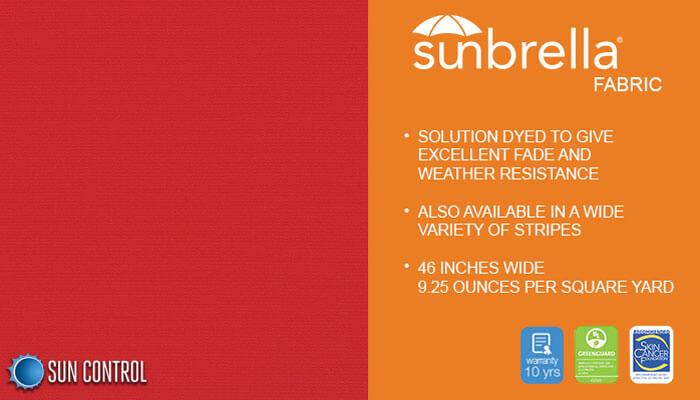 Sunbrella Solid Jockey Red