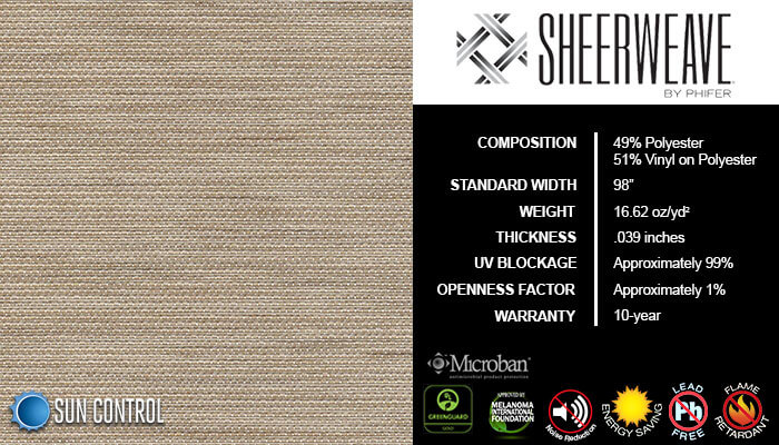 SheerWeave 5000 Jute latte