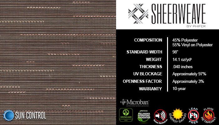 SheerWeave 5000 Linen Cinnamon