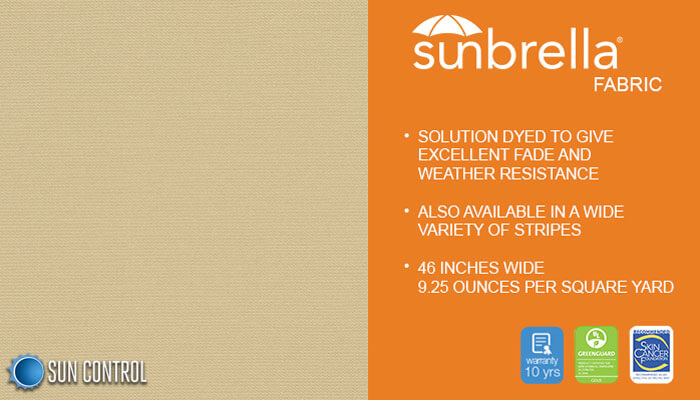 Sunbrella Solid Linen