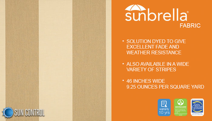 Sunbrella Stripes Manhattan Dune