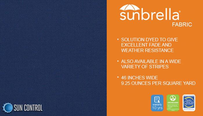 Sunbrella Solid Marine Blue