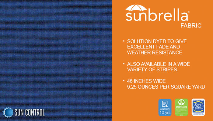 Sunbrella Mediterranean Blue Tweed