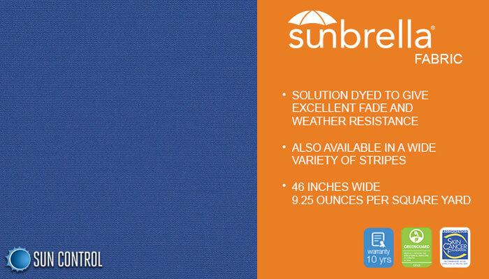 Sunbrella Solid Mediterranean Blue