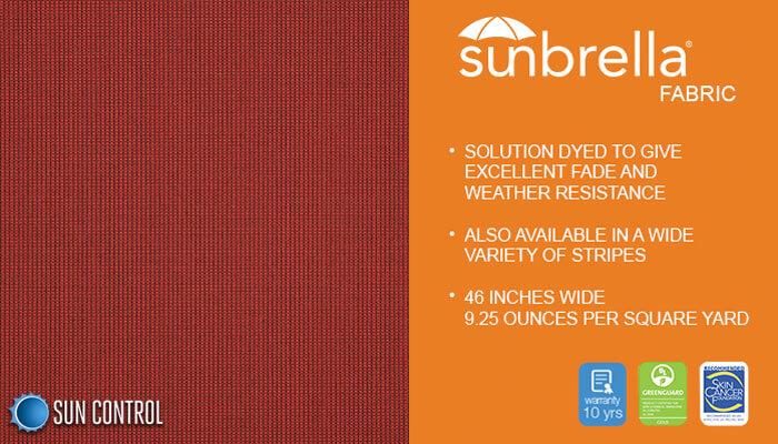 Sunbrella Texture Mix Redwood