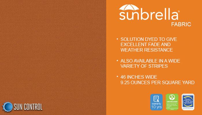 Sunbrella Solid Nutmeg