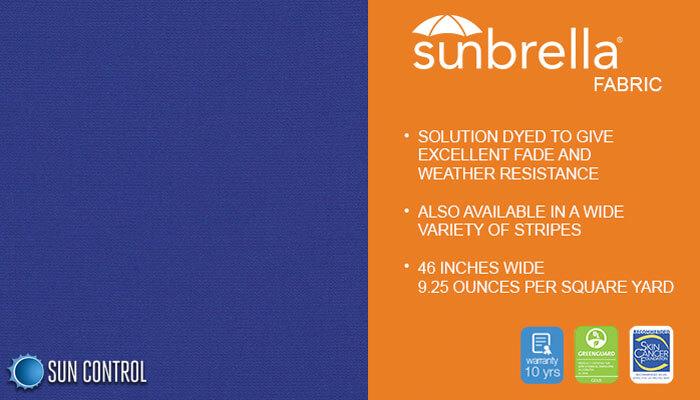 Sunbrella Solid Ocean Blue
