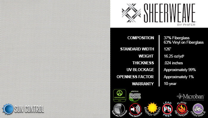 SheerWeave 2500 Oyster Pearl Gray