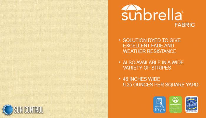 Sunbrella Solid Parchment