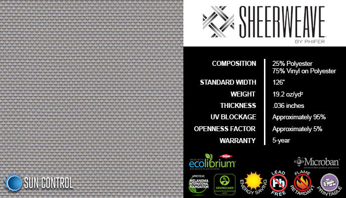 SheerWeave 4000 Eco Pewter