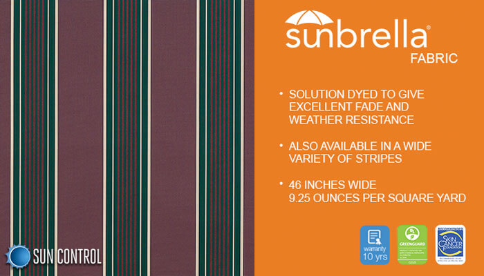 Sunbrella Stripe Plum Fancy