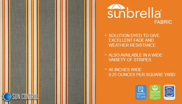Sunbrella Stripe Preston Radiance