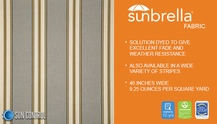 Sunbrella Stripe Preston Stone