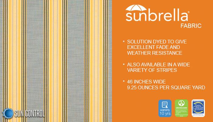 Sunbrella Stripe Rodanthe Metallic